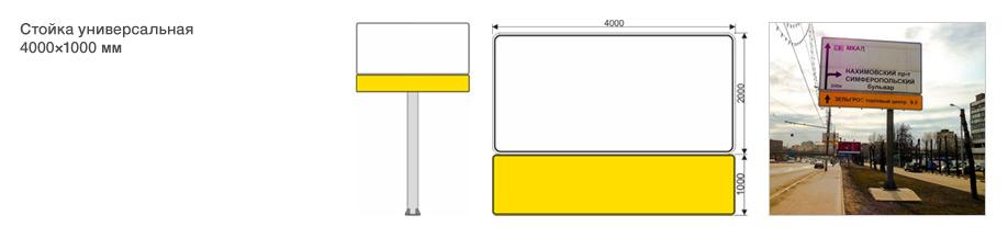 Дорожный указатель – тип стойка универсальная