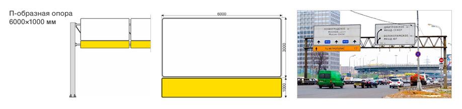 Дорожный указатель – тип П-образная опора
